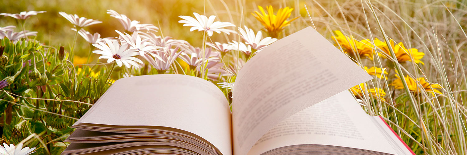Open Book in FLower Field